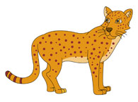 Angry Looking Leopard Showing Teeth Clipart Size: 122 Kb