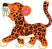 Baby leopard cartoon; Baby leopard cartoon