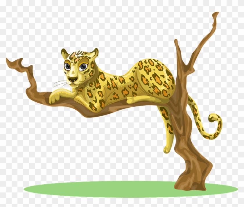 Jungle Trees Clipart 16, Buy Clip Art - Leopard Clipart #794495