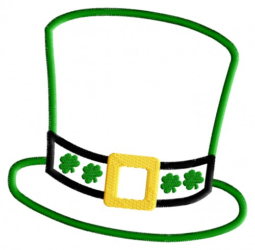 Leprechaun Hat - St Patricks Day Appliqu-Leprechaun Hat - St Patricks Day Applique Design-8