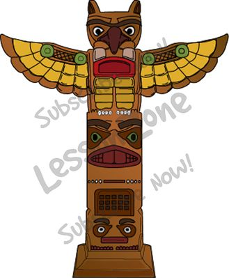 Lesson Zone US - Aztec totem .