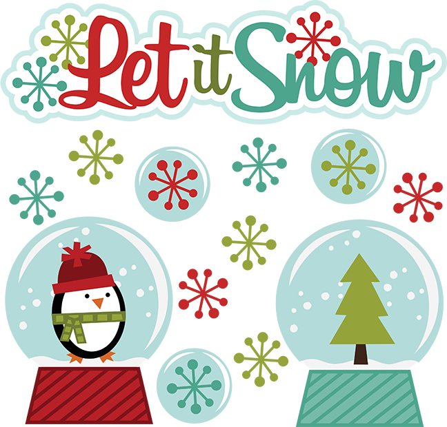 Let It Snow Svg Winter Clipart Cut Clip Art Free Svg File Free Svgs