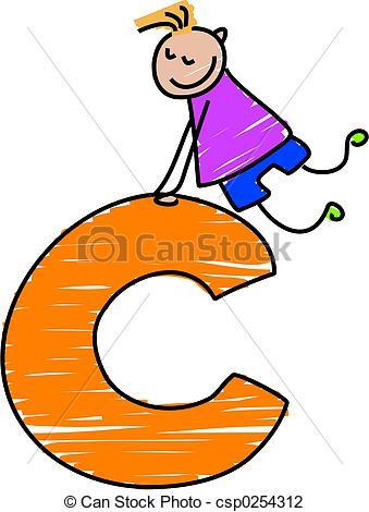 letter C boy - little boy climbing on a -letter C boy - little boy climbing on a letter C-15