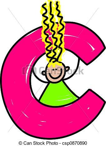 ... letter C girl - happy little girl wi-... letter C girl - happy little girl with a letter C - toddler... ...-10