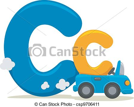 ... Letter C - Illustration Featuring th-... Letter C - Illustration Featuring the Letter C-12