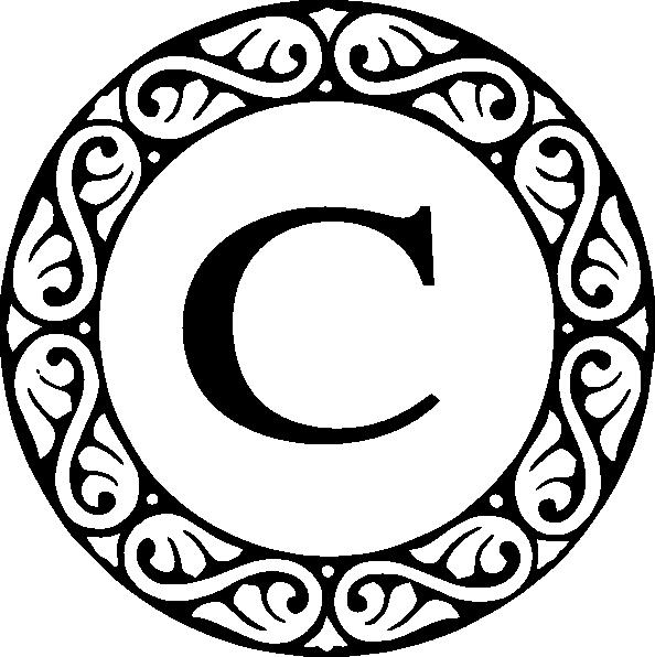 Letter C Monogram Clip Art At Clker Com -Letter C Monogram Clip Art At Clker Com Vector Clip Art Online-13