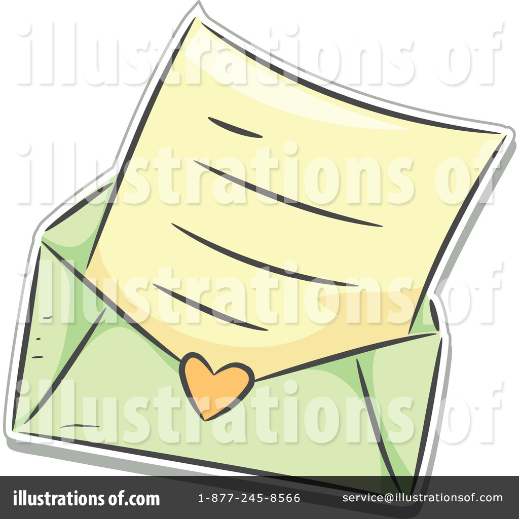 Royalty-Free (RF) Love Letter Clipart Il-Royalty-Free (RF) Love Letter Clipart Illustration #1150751 by BNP Design  Studio-12