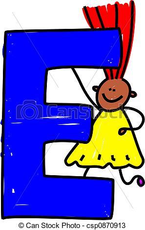 ... Letter E Girl - Happy Little Ethnic -... letter E girl - happy little ethnic girl holding a giant... ...-10