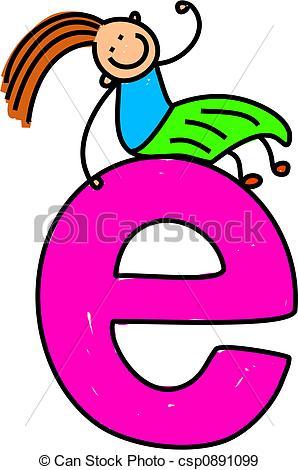 ... Letter E Girl - Happy Little Girl Si-... letter E girl - happy little girl sitting on giant letter E... ...-11