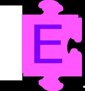 Letter E Inside Puzzle Piece Clip Art At-Letter E Inside Puzzle Piece Clip Art At Clker Com Vector Clip Art-13