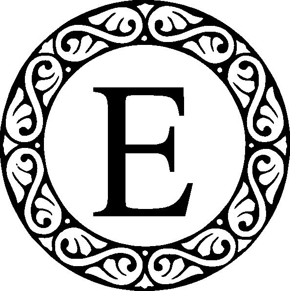 Letter E Monogram Clip Art
