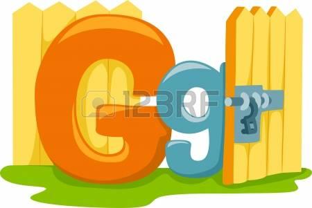 Letter G: Illustration Featuring The Let-letter g: Illustration Featuring the Letter G Stock Photo-13