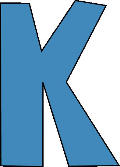 Letter K Clipart Blue Alphabet Letter K Clip Art Blue Alphab