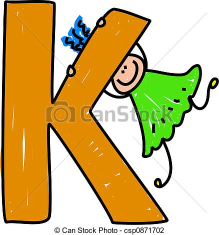 ... letter K girl - happy little girl swinging on a giant letter... letter K girl Clip Artby ...