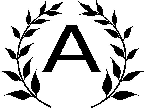 Letter M Monogram Clipart