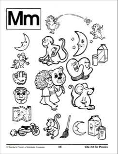 Letter Mm Illustrations: Phon - M M Clip Art