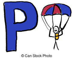 ... Letter P - A childlike drawing of th-... Letter P - A childlike drawing of the letter P, with a stick.-10