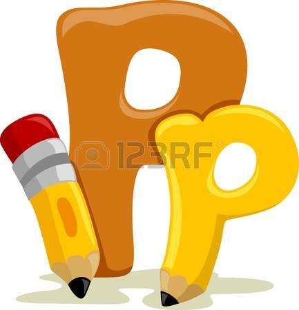 Letter P: Illustration Featuring The Let-letter p: Illustration Featuring the Letter P-8