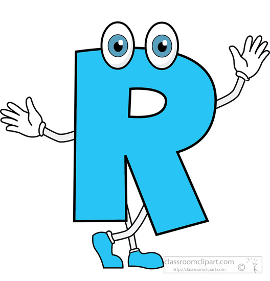 Letter R Cartoon Alphabet-letter R cartoon alphabet-4