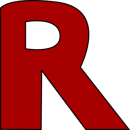 Letter R Clipart Red Letter R Clip Art Image