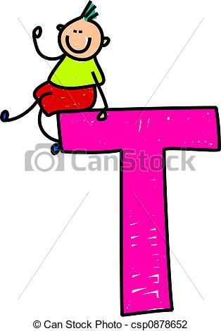 ... letter T boy - happy litt - Letter T Clipart