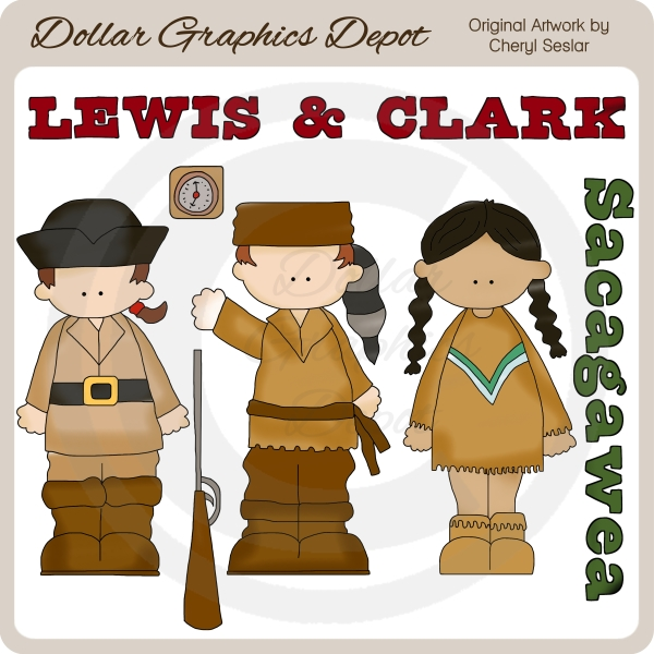 Lewis and Clark - Clip Art