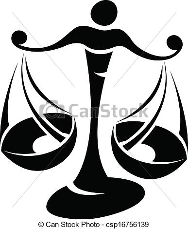 Black Libra Zodiac Star Sign - csp16756139