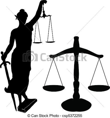 Justice statue and libra - csp5372255