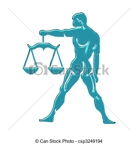 Colorful Justice scales or zo