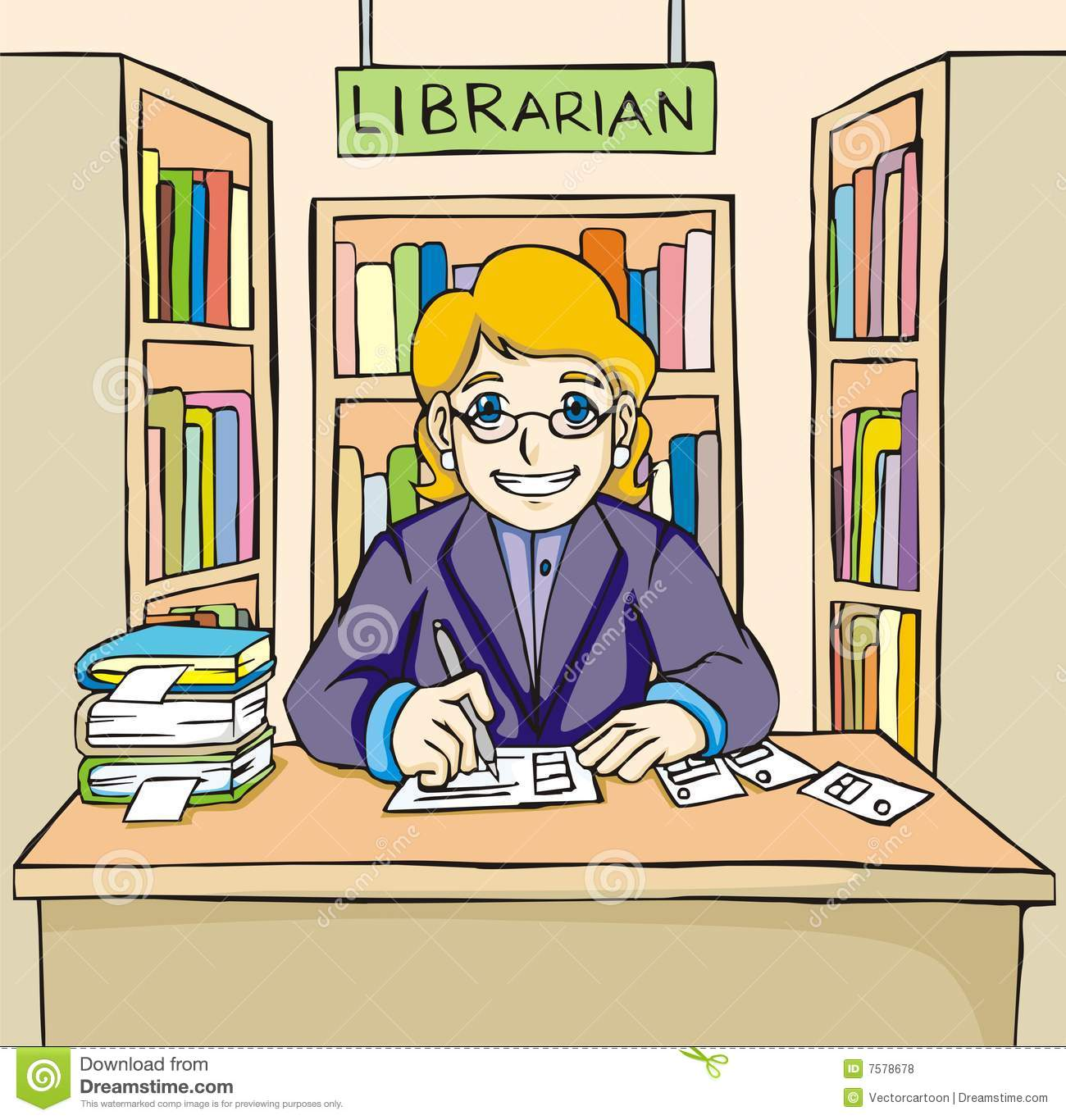 librarian pictures clip art