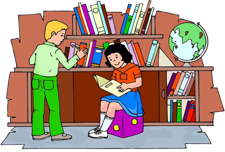 Library bookshelf clipart free clipart image