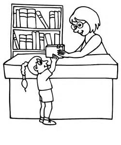 Library Clipart Black And . Library Book-library clipart black and . Library Books Coloring Pages .-6