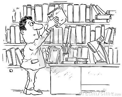 Library Clipart Black And .-library clipart black and .-7