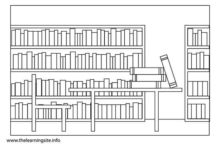 Library Clipart Black And .-library clipart black and .-10