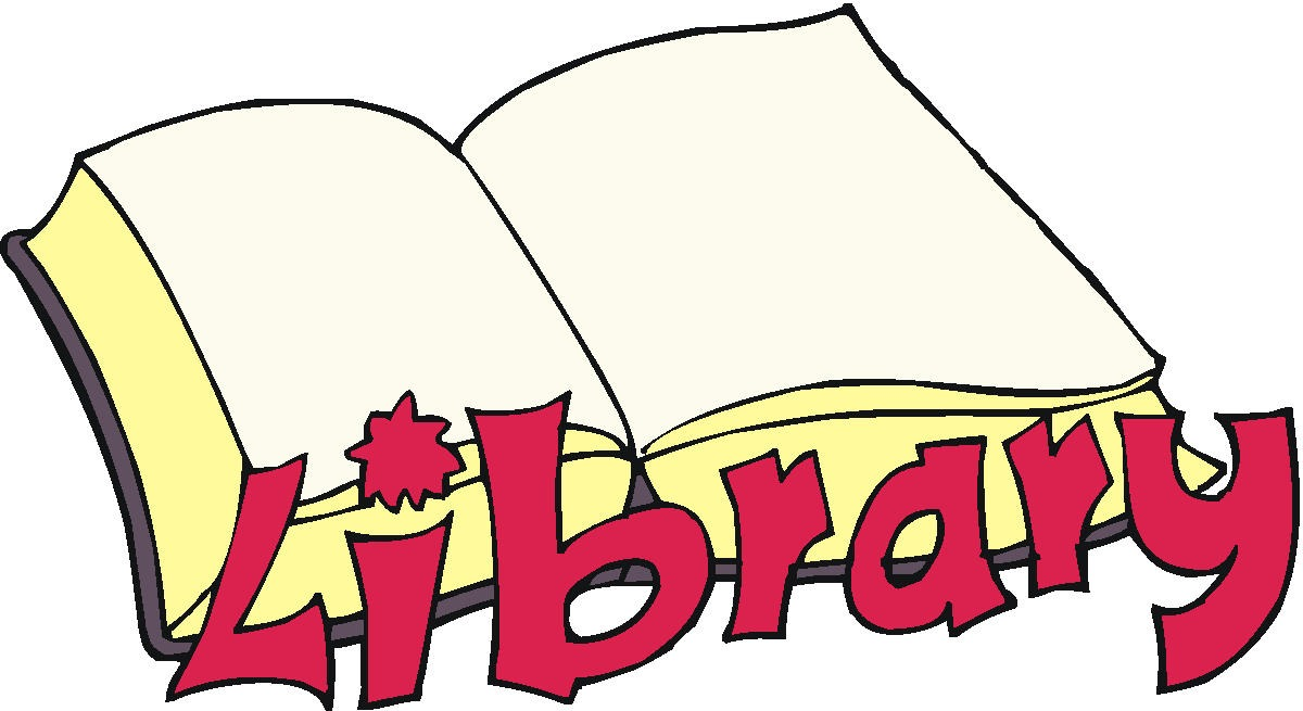 Library sign clipart
