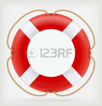 life preserver: Red Life Buoy - Life Preserver Clip Art