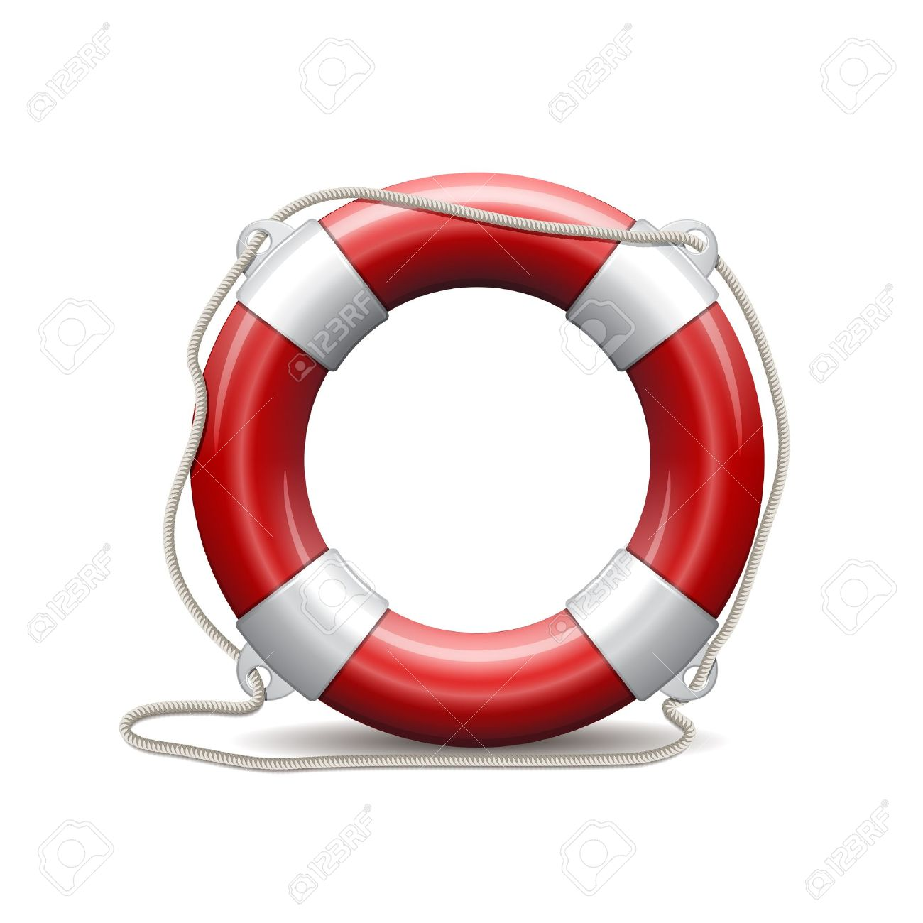 Life Preserver: Red Life Buoy On White B-life preserver: Red life buoy on white background-10