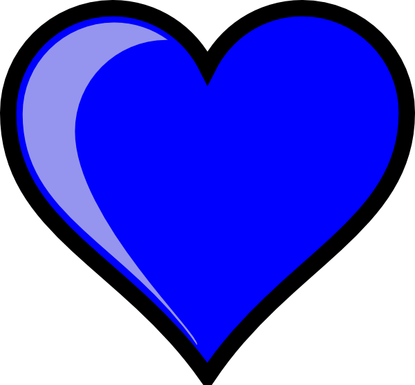 light blue heart clipart