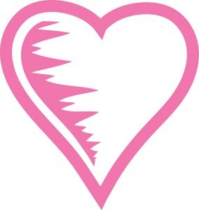 light pink heart clipart