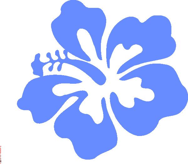 Light Blue Hibiscus Flower Clip Art At Clker Com Vector Clip Art