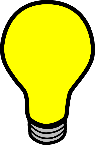 Light bulb animation clipart