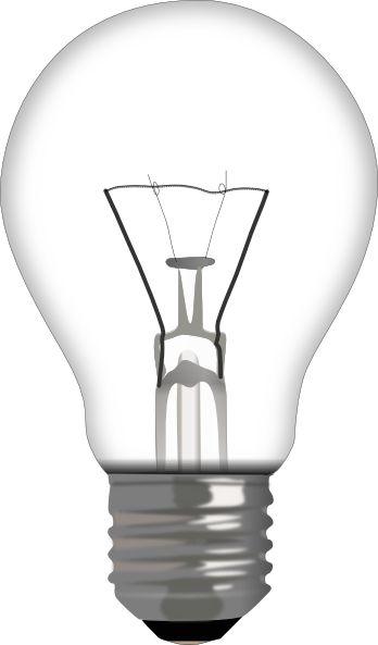 Light bulb clip art free vector