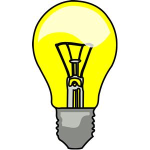 Light bulb lightbulb clipart .