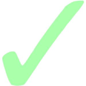 Light Green Check Mark clip .