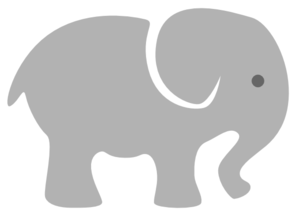 Light Grey Baby Elephant Clip Art At Clker Com Vector Clip Art