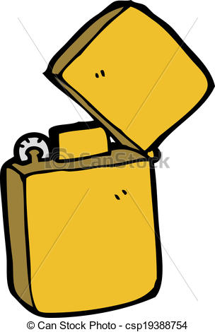 cartoon metal lighter - csp19388754
