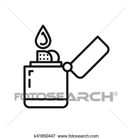 Clip Art - zippo lighter illustration design. Fotosearch - Search Clipart,  Illustration Posters,