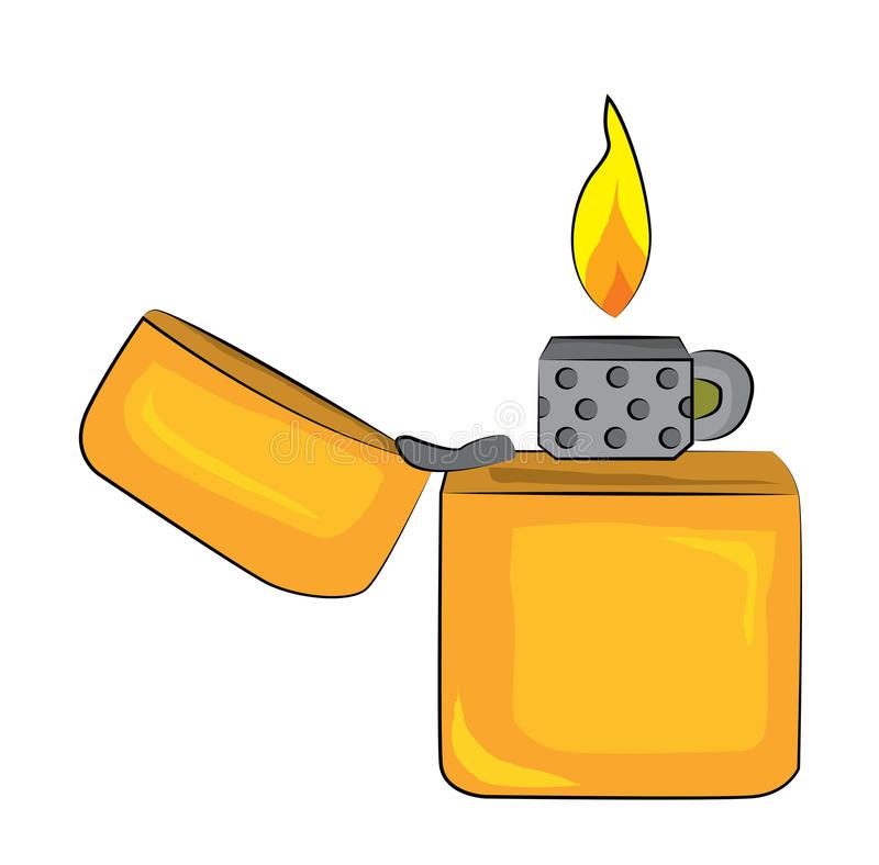 Download Lighter cartoon stock illustration. Illustration of illustration -  48180494