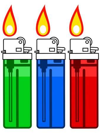 Illustration of the gas lighter set Illustration