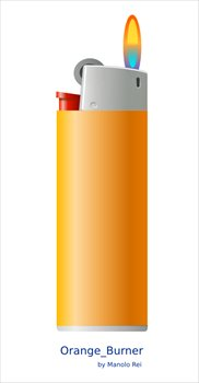 orange-lighter - Lighter Clipart